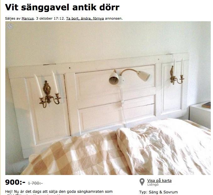 Blocketfynd u2013 sänggavel Auktioner& loppis, Gör det själv DIY, Hemmafix, Pyssel, Upcycling