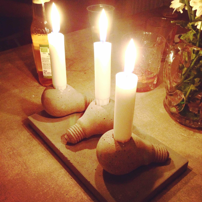 Ljusstakar i betong   belysning, design, gör det själv diy ...