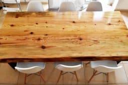 Bygg ditt eget matbord av tra i industristil, hemmafix med Monica Karlstein.