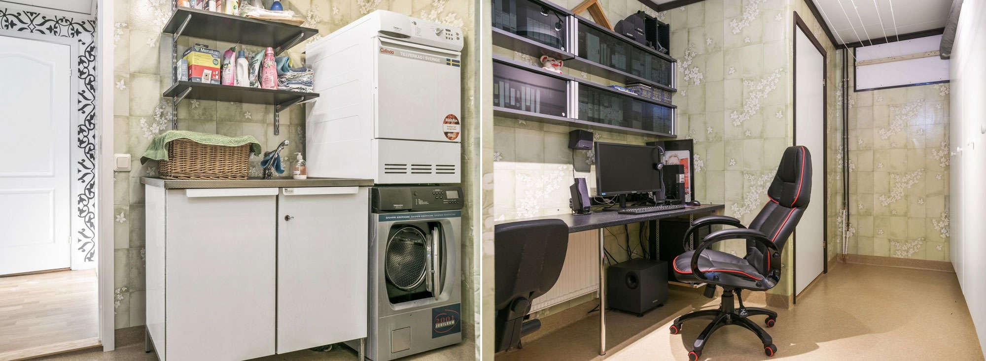 Förebilder på hur tvättstugan ser ut innan renovering.
