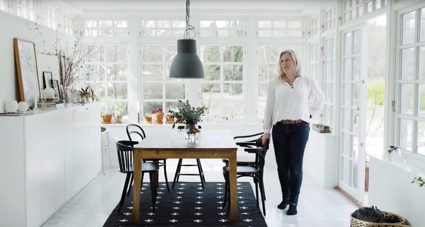 Hemma hos Hanna Wendelbo-Hansson.