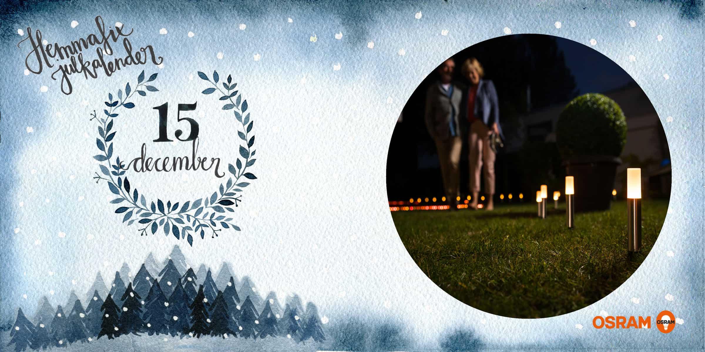 15 december: Vinn fjärrstyrd Trädgårdsbelysning från Ledvance
