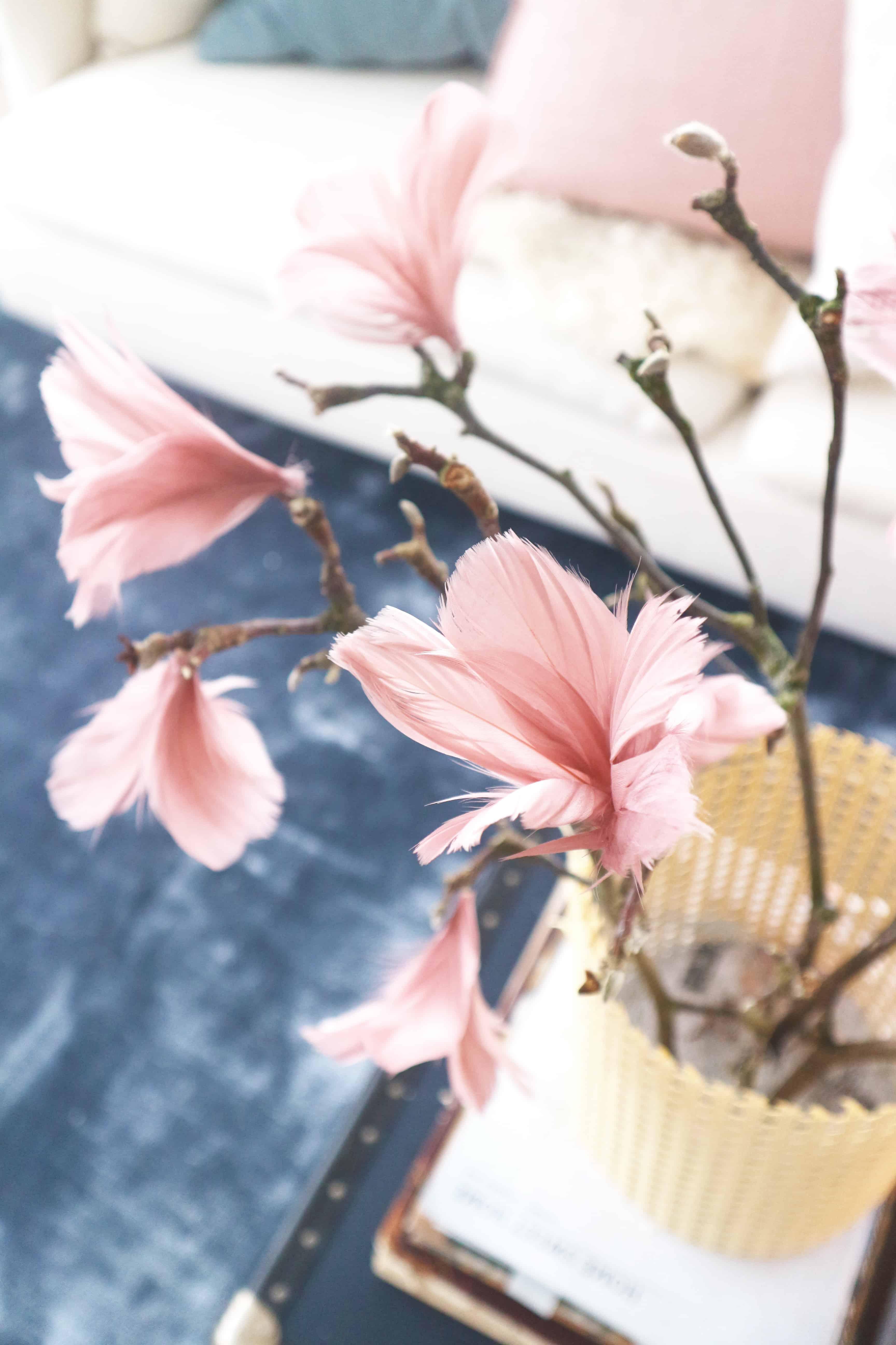 Förläng magnolians livslängd med schysta fjädrar som passar hela våren (inte bara i påsk)