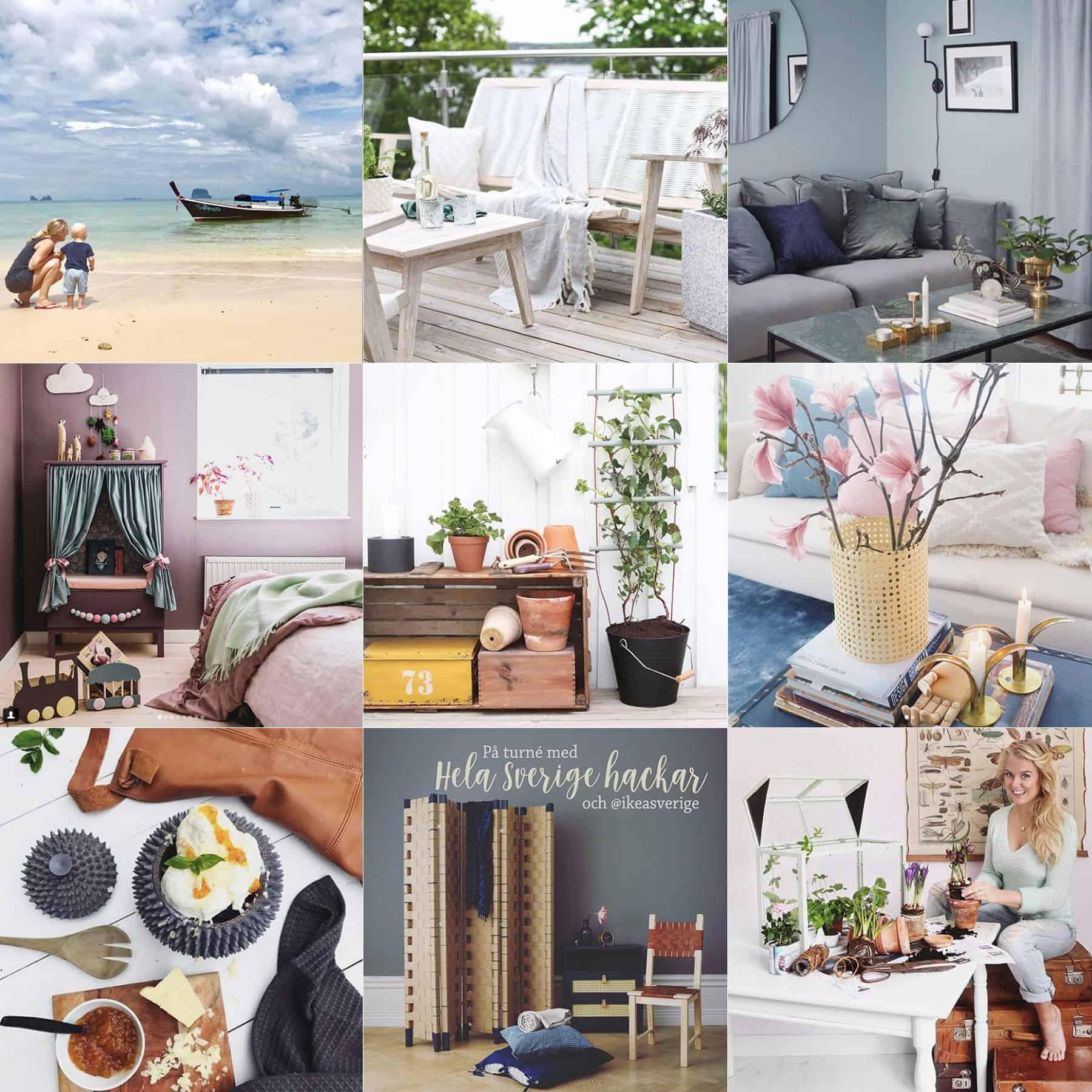 Våren med Hemmafixbloggen – genom mitt Instagramkonto @monicakarlstein