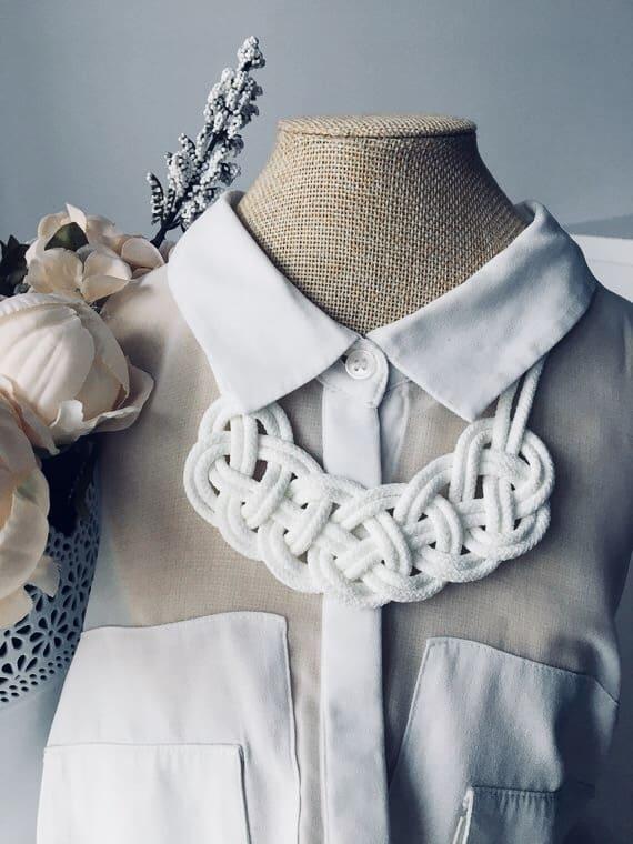 DIY: Gör ditt eget knuthalsband/ knot necklace