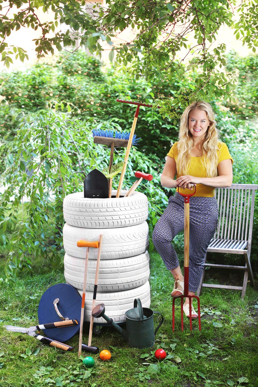 Hemmafix, trädgårdsförvaring av däck.