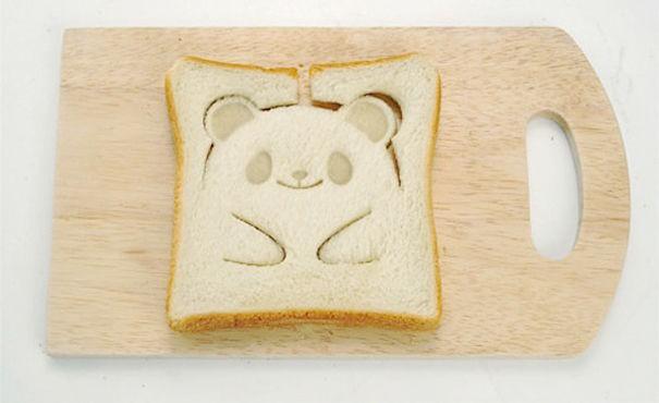 Pandamönstrad toast.