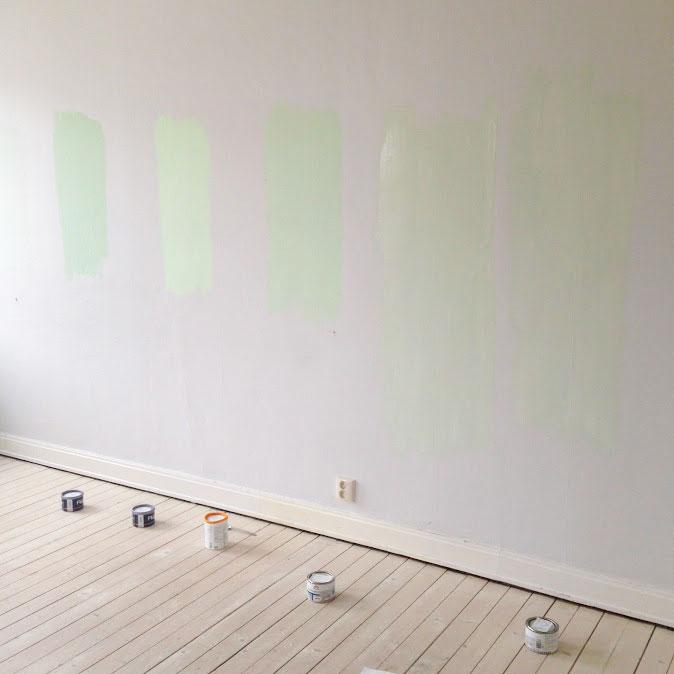 provmåla innan väggmålning