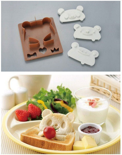 Pandamönster på toast