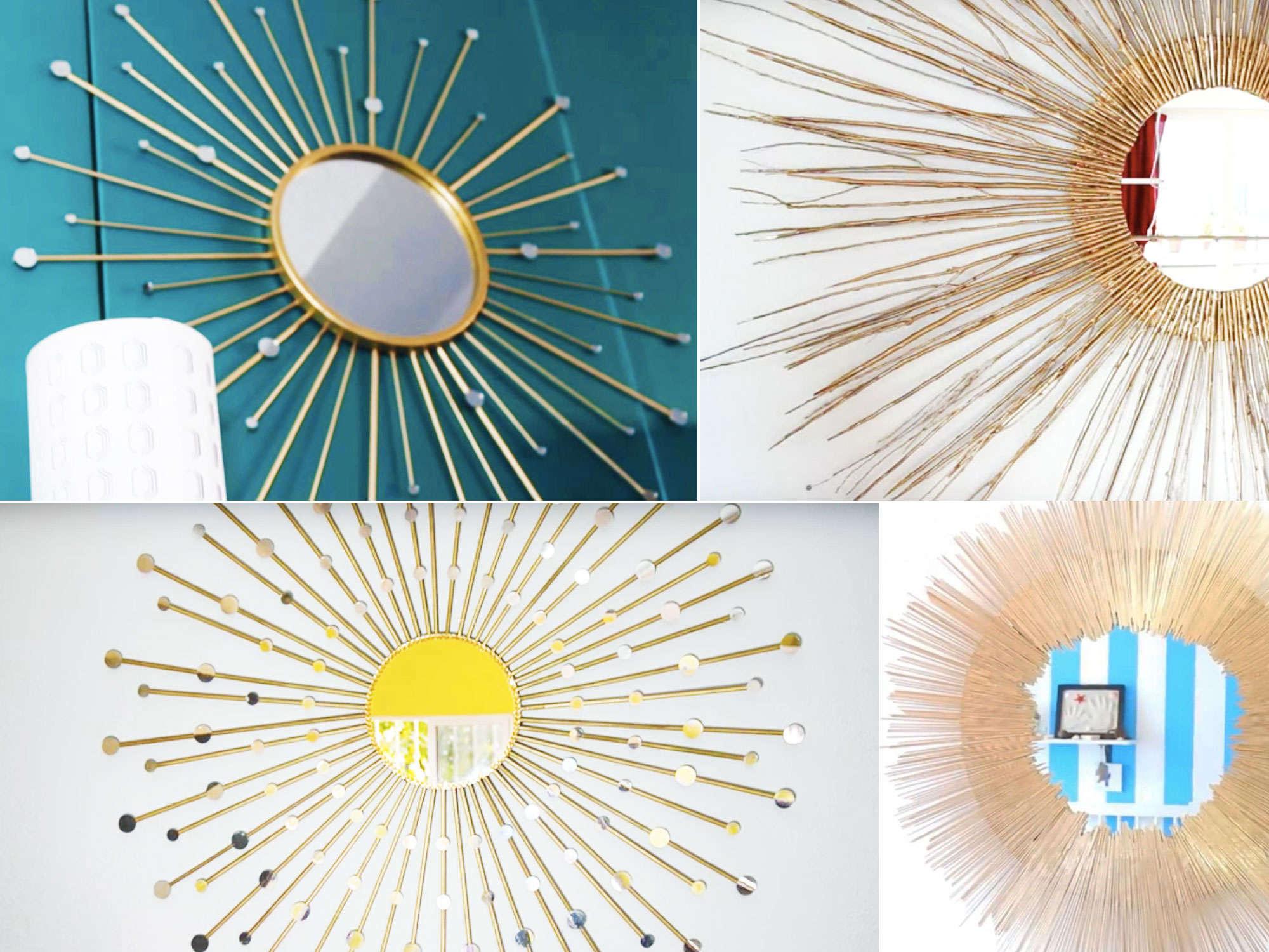 Den här bilden företställer en solspegel, eller 4 varianter som du kan göra själv.