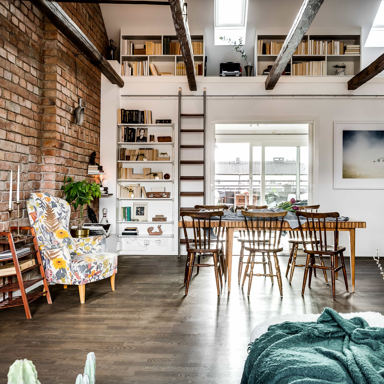 Lägenhet med loft på Hornsgatan, Hemnet.
