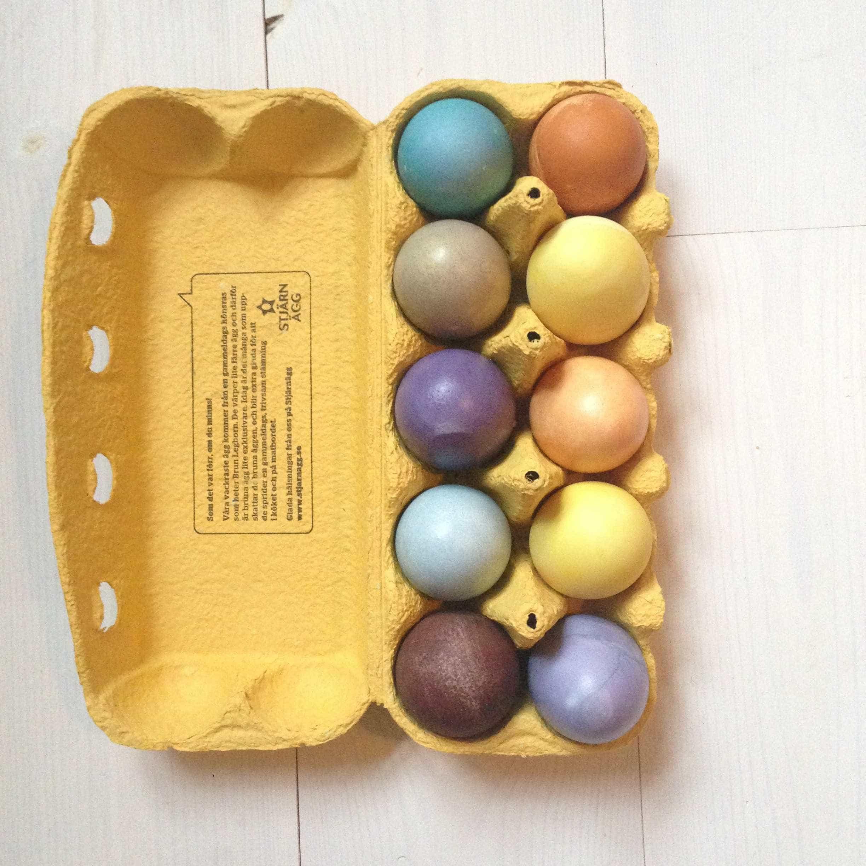 Naturligt färgade ägg av ingredienser ur ditt skafferi, av Monica Karlstein, Hemmafixbloggen.se