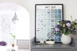 Gör en egen planeringstavla för hela familjen, av Monica Karlstein, Hemmafixbloggen.se