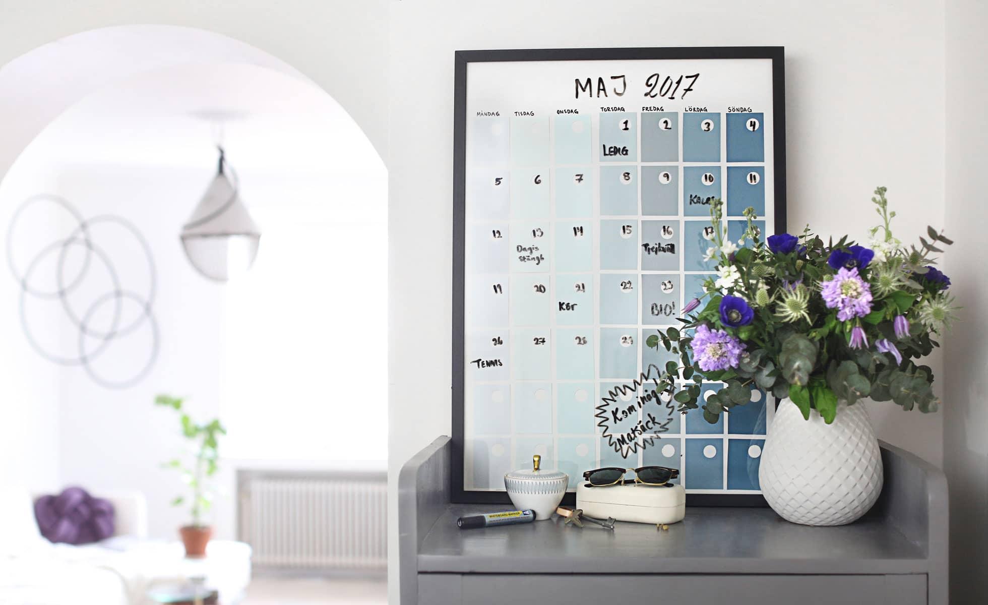 Gör en egen planeringstavla eller väggplanering för hela familjen, av Monica Karlstein, Hemmafixbloggen.se