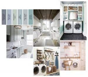 Renoveringsplaner för tvättstugan.