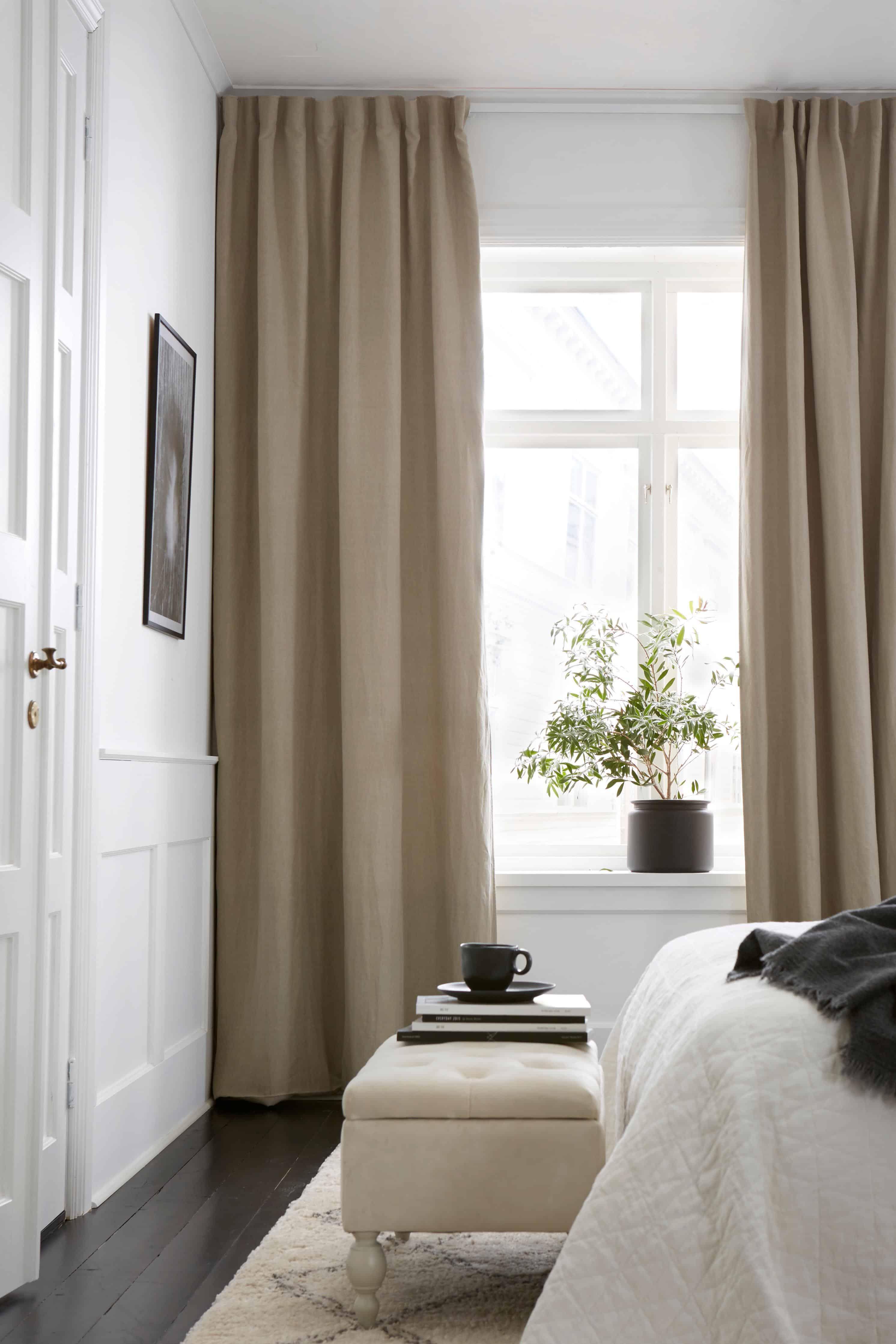 Beige Gra Eller Vita Morklaggningsgardiner Till Sovrummet Inredning Sovrum Tapet Textil Hemmafix