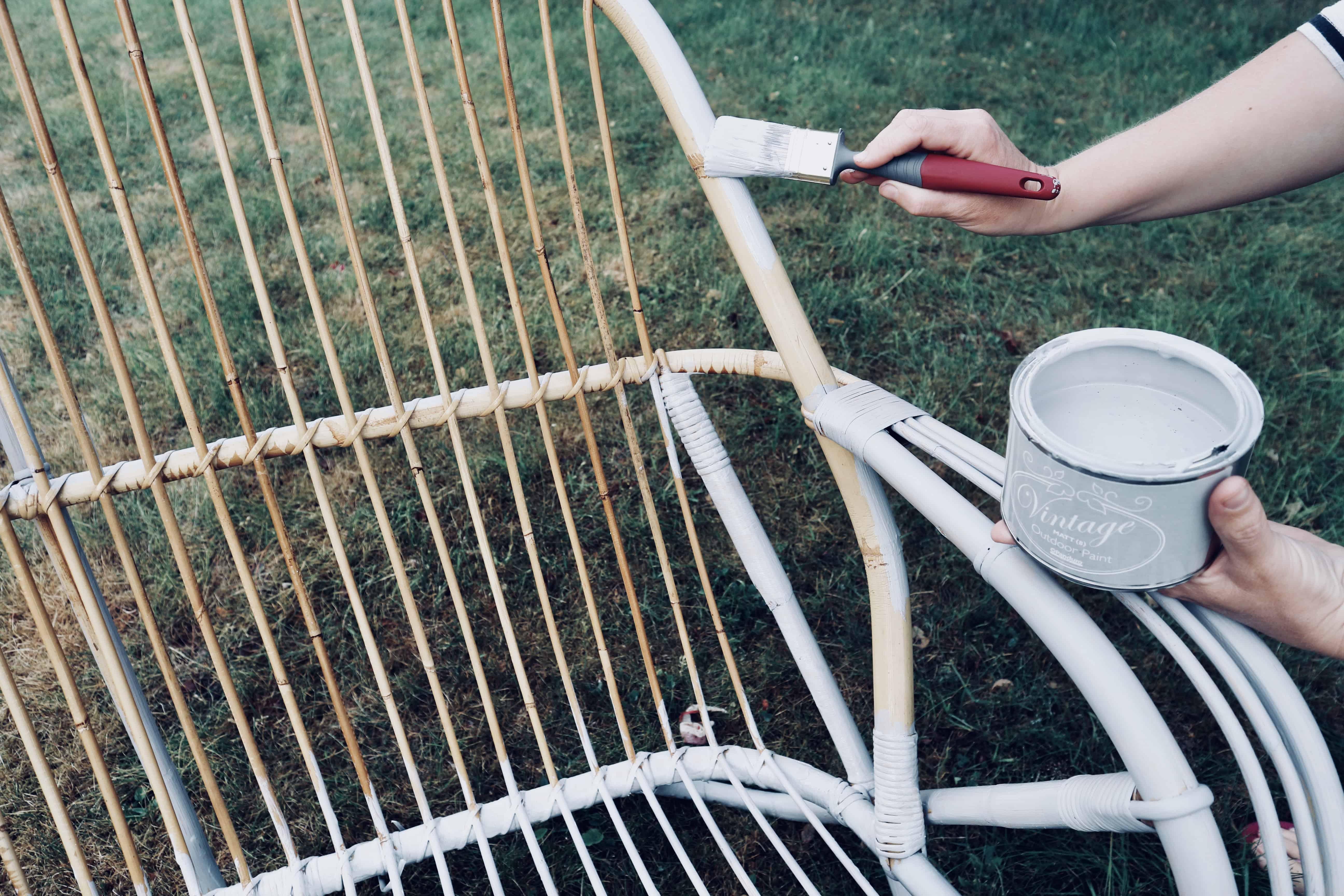 Måla rotting och bambu
