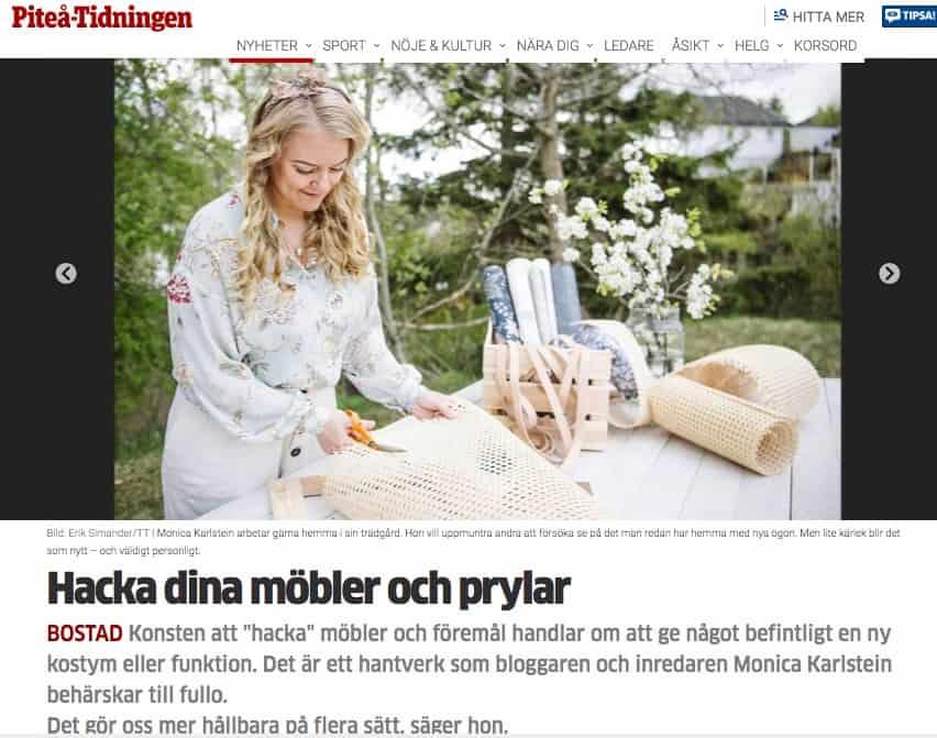 Hackar möbler i Piteå-Tidningen