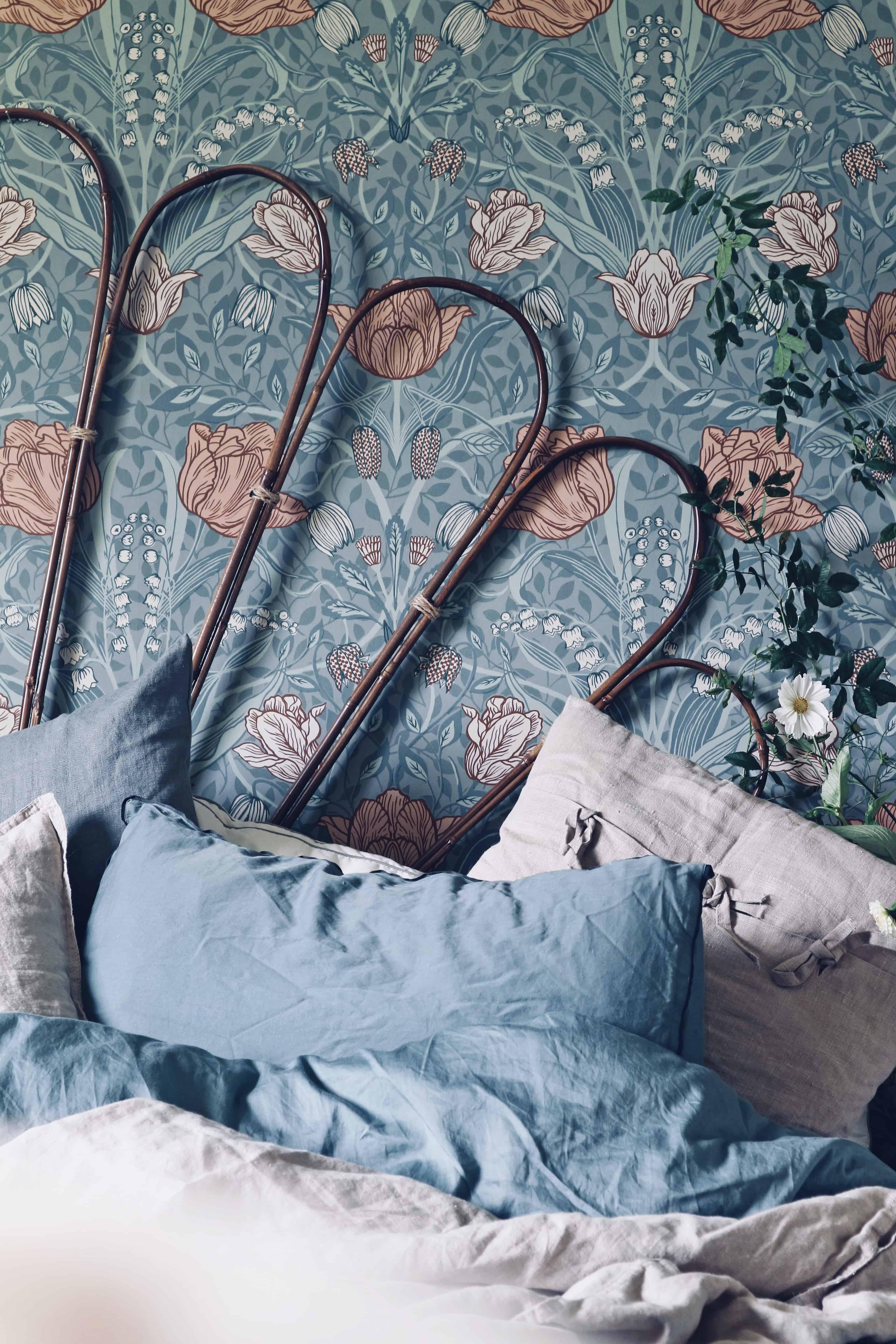 Funderar på att göra en till sänggavel av bambupinnar